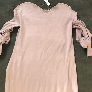Midi Dress ❤️ Tie Cold Shoulders